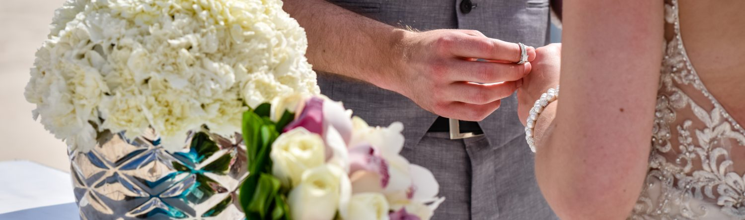 Exchanging of wedding rings image