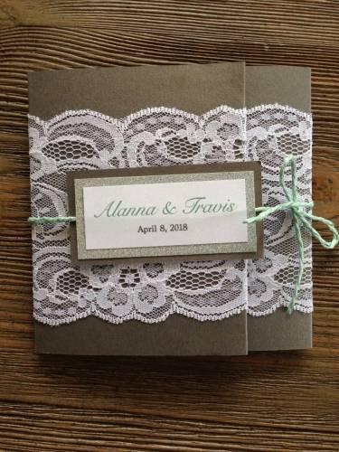 rustic elegance wedding invitation1